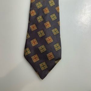 CHRISTIAN DIOR SILK GRAY PATTERNED TIE